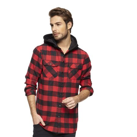 Camisa-Cuadros-Grunge-Con-Hood-PVIII-Black-Red