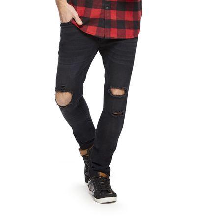 Jeans-Destroyed-Skinny-Rodilla-PVIII-Black