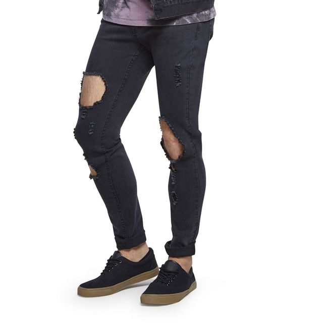 Jeans-Skinny-Destroyed-Hoyos-Rodrilla-Black-