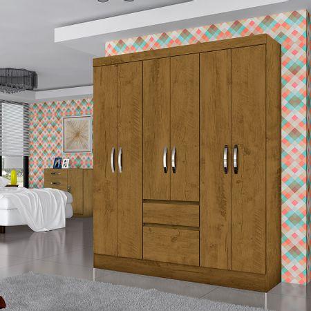 closet-roch-6-puertas-2-cajones-castano-wood