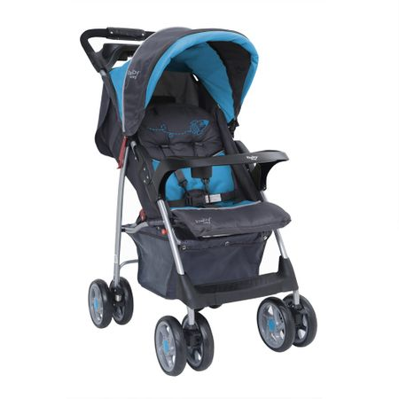 Coche-de-Paseo-Baby-Way-BW-205B17-Azul-con-gris