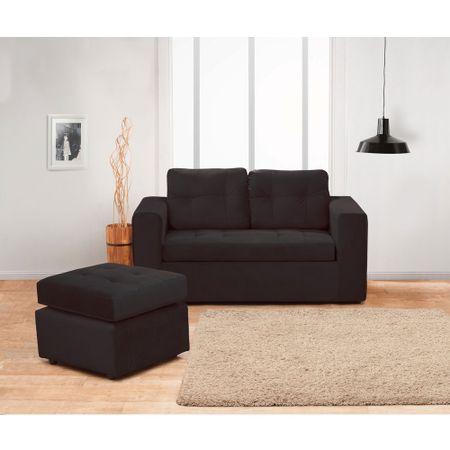juego-de-living-kea-bilbao-sofa-2-cuerpos-1-pouf-felpa-negro