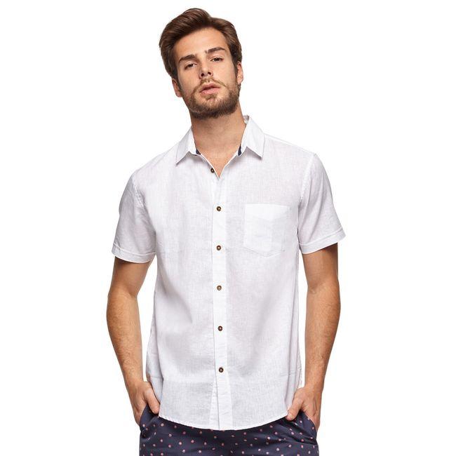 Camisa-Sport-Manga-Corta-Lino-Blanco-