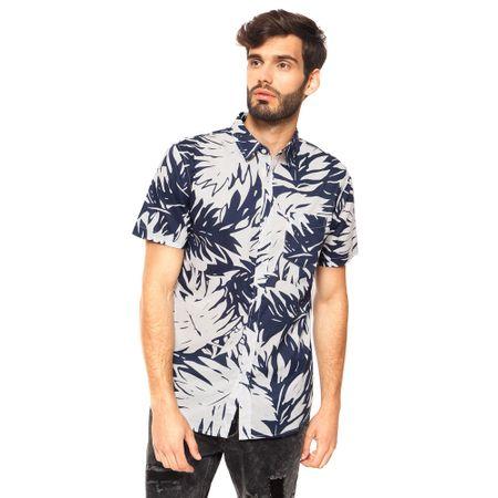 Camisa-Print-Hojas-Navy-