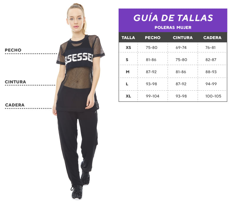 Tabla de tallas Poleras