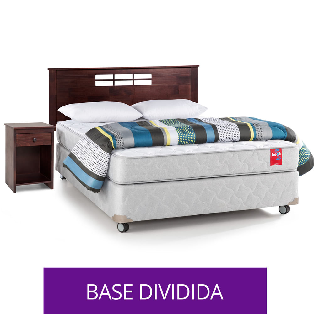 Box-Americano-Base-Normal-2-Plazas-Rosen---Almohadas-Plumon--Set-de-Maderas-