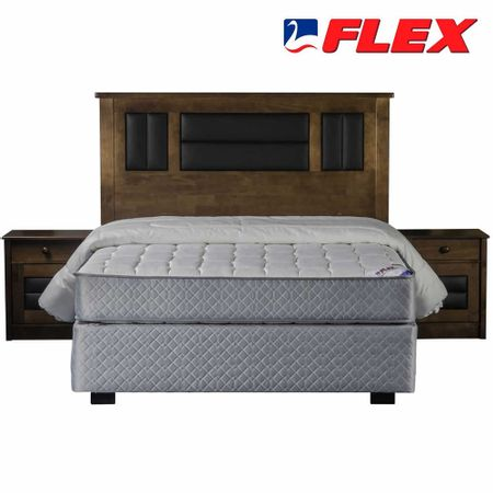 Box-Spring-Base-Normal-2-Plazas-Flex---Almohadas---Plumon---Set-de-Maderas-Lorraine-