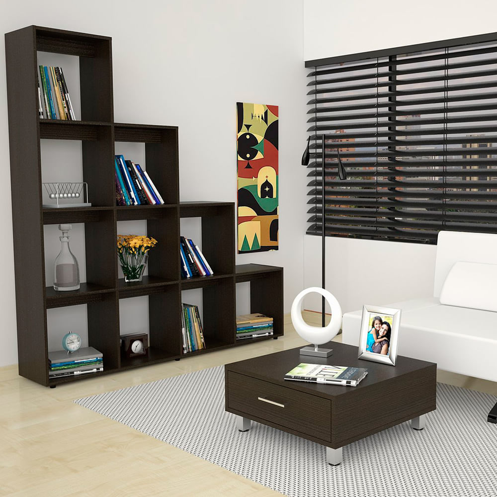 Combo-Rack-Biblioteca-Mesa-de-Arrimo-y-Centro-TuHome-