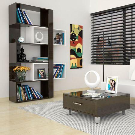 Combo-Rack-Biblioteca-Mesa-de-Arrimo-y-Centro-Wengue-TuHome-