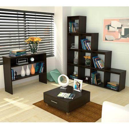 Rack-Extensible---Biblioteca-Cubo---Mesa-de-Arrimo---Mesa-de-Centro-Wengue-