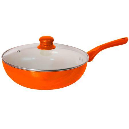 Wok-Ceramico-Catalunya-32-cms.-Naranjo