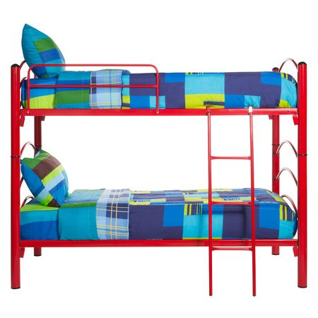Camarote-Desmontable-1-Plaza-Mantahue--90x190--2-Colchones-de-Espuma---Set-Textil-Sevilla-Rojo
