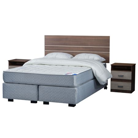 Box-Spring-Base-Dividida-2-Plazas--Flex-Therapedic--150x200-Set-Textil---Set-de-Maderas-Milano