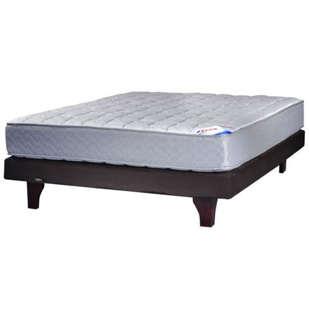 Cama-Europea-Base-Nornal-2-Plazas-Flex-Chocolate-Therapedic