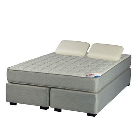 Box-Spring-2-Plazas-Base-Dividida-Flex-Therapedic---Almohadas-Viscoelasticas