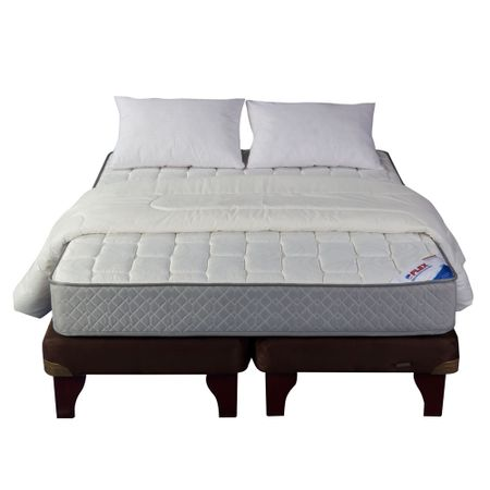 Cama-Europea-2-Plazas-Base-Dividida-Flex-Therapedic-Chocolate---Textil
