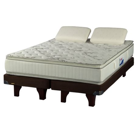 Cama-Europea-2-Plazas-Base-Dividida-Flex-Innova-Chocolate---Almohadas-Viscoelasticas