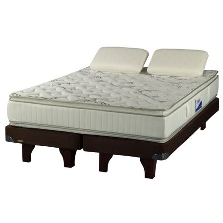 Cama-Europea-King-Plaza-Flex-Innova-Chocolate---Almohadas-Viscoelasticas
