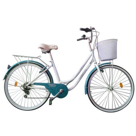 Bicicleta-Aro-26-Orbital-Amsterdame-Blanco-Turquesa