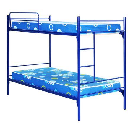 Camarote-Metalico-1-Plaza-Mantahue-Fijo-Alfa-Azul---Colchones-Espuma