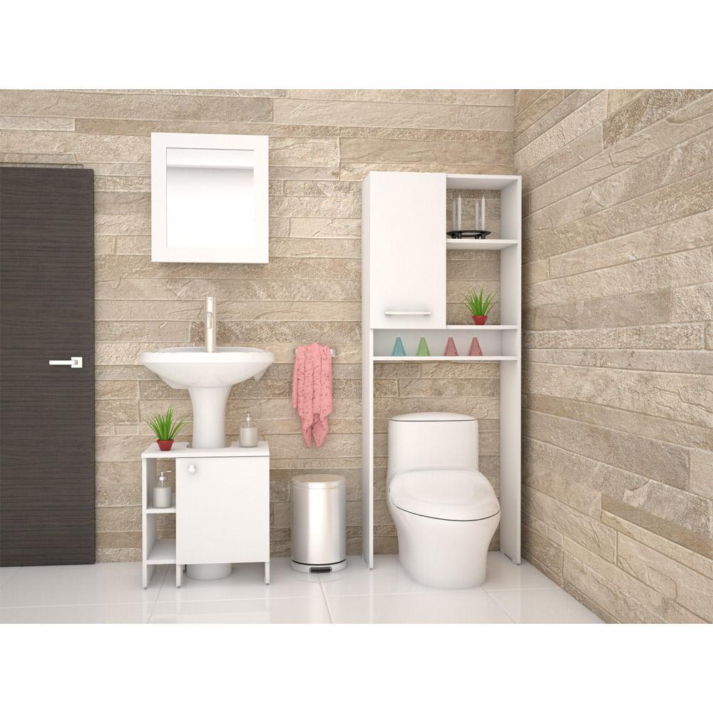 Combo-TuHome-Botiquin-Bath-47-B---Optimizador-Lavamanos-47-A---Bath-26-Blanco