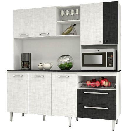 Mueble de Cocina Roch 7 Puertas 2 Cajones Blanco (M-1009) - Corona