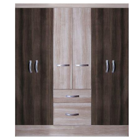 Closet-6-puertas-2-cajones-Favatex-20145138-Teka-Nogal-TX