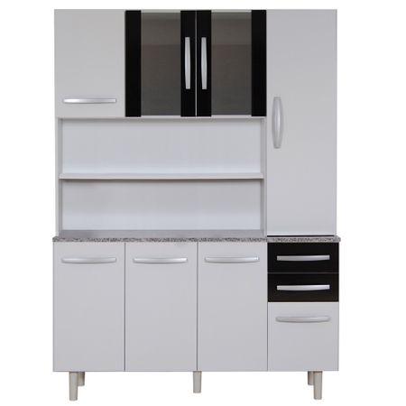 Mueble-de-Cocina-8-Puertas-2-Cajones-Favatex-2308-Blanco-Negro