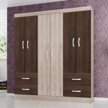 Closet-6Puertas-4-Cajones-Favatex-Estonia-Nogal--Teka