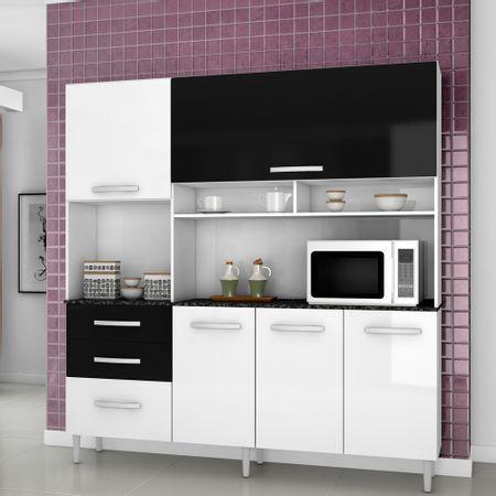 Mueble-de-Cocina-5-Puertas-3-Cajones-Lory-2000444-Blanco-Negro