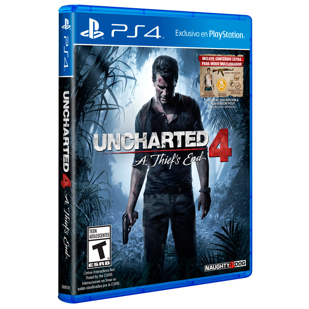 Juego Ps4 Sony Uncharted 4 Corona