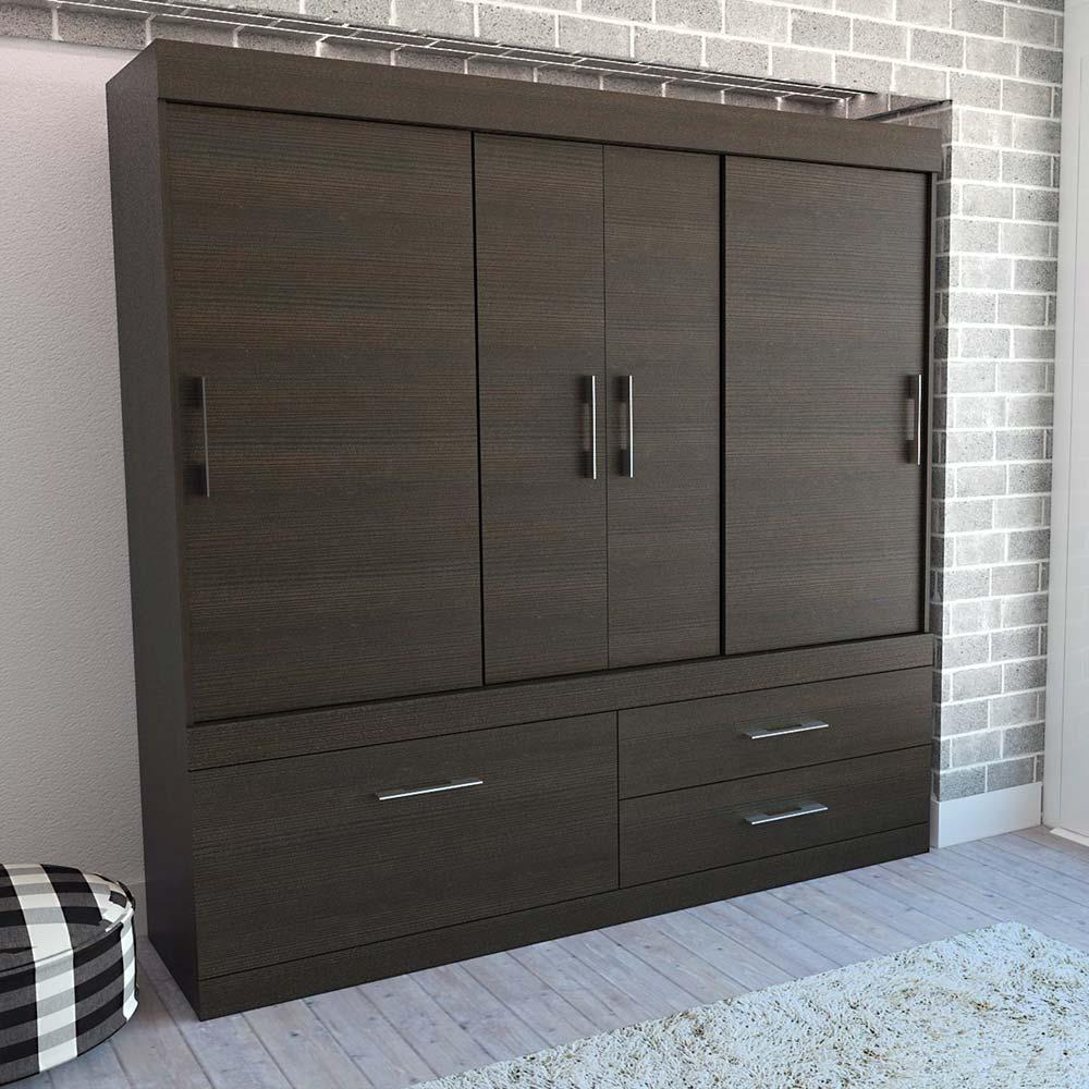 Closet-4-Puertas-2-Cajones-TuHome-Allegro-Wengue-Negro