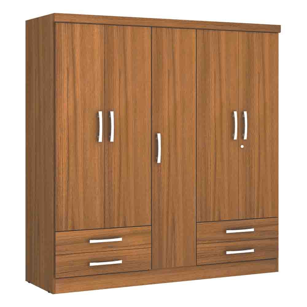 Closet-5-Puertas-4-Cajones-Yardas--S445--Teca-Alto-Brillo