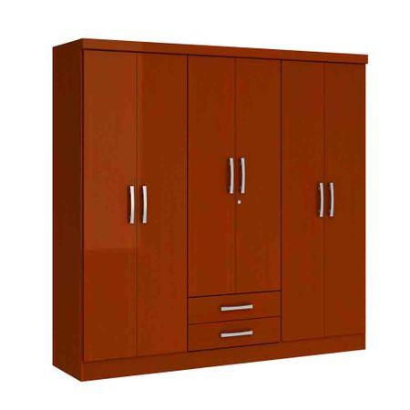 Closet-6-Puertas-2-Cajones-Yardas--S446--Caoba-Alto-Brillo