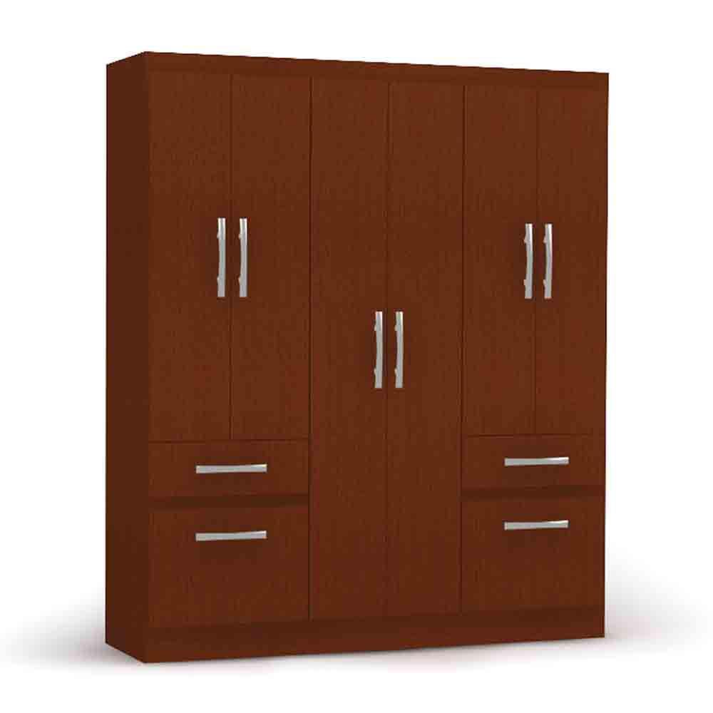 Closet-6-Puertas-2-Cajones-2-Zpateras-Yardas--B544--Caoba-Alto-Brillo