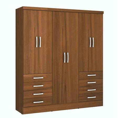 Closet-6-Puertas-8-Cajones-Yardas--S338--Teca-Alto-Brillo