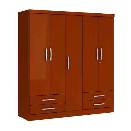 Closet-5-Puertas-4-Cajones-Yardas--S445--Caoba-Alto-Brillo