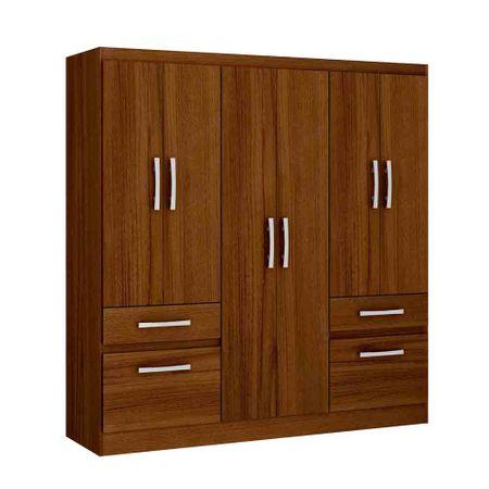 Closet-6-Puertas-2-Cajones-2-Zpateras-Yardas--B544--Teca-Alto-Brillo