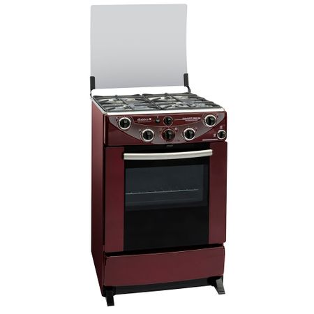 Cocina-4-Quemadores-Sindelen-CH-9600RJ-Roja