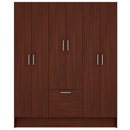 closet-6-puertas-1-zapatera-silcosil-e601-chocolate