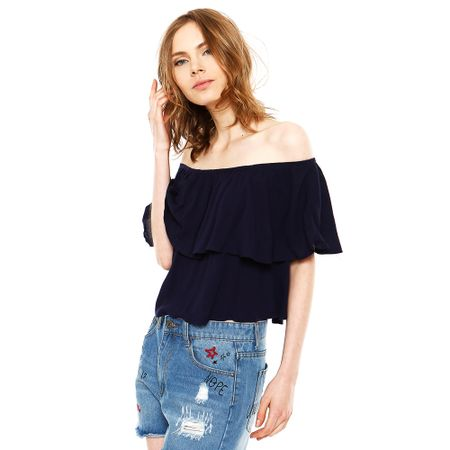 Blusa-Off-Shoulder-Sin-Manga-Navy-