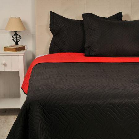Quilt-Microfibra-Bicolor-Negro-Rojo-Rock-Queen-