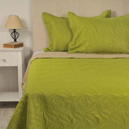 Quilt-Microfibra-Bicolor-Verde-Beige-Jazz-King-