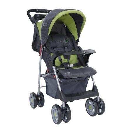 Coche-de-Paseo-Baby-Way-BW-205G17-Verde-con-gris