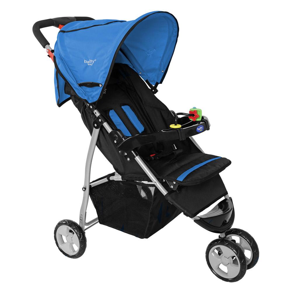 Coche-de-Paseo-Baby-Way-BW-206A17-Azul-con-gris