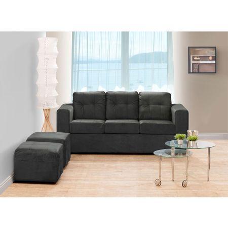 juego-de-living-kea-estela-sofa-3-cuerpos-2-pouf-felpa-negro