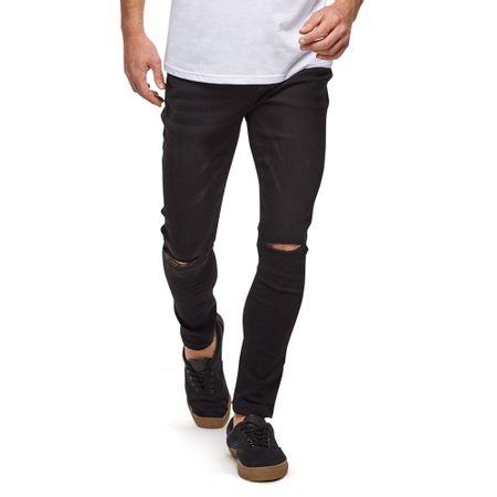 Jeans-Azul-Strecth-Skinny-W-Destroyed-Cut--Knee-Black-