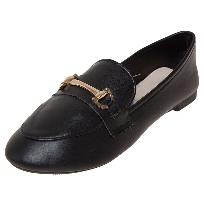Zapato-Mujer-Mocasin-Metalico-Negro-