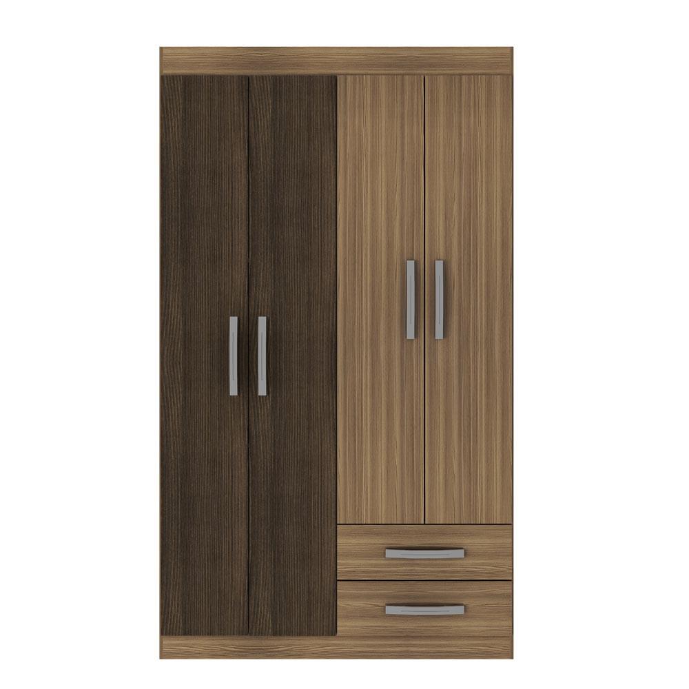 closet-exit-4-puertas-2-cajones-correderas-metalicas-alto-brillo-castano