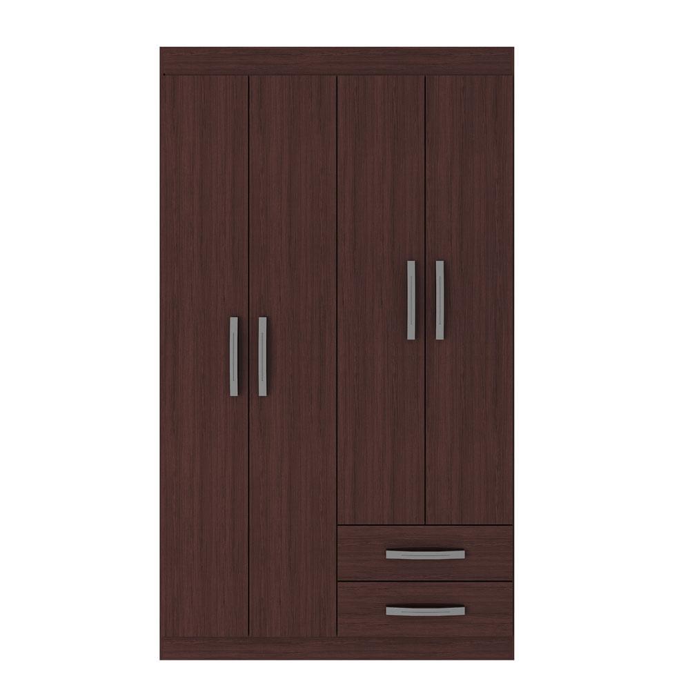 closet-exit-4-puertas-2-cajones-correderas-metalicas-alto-brillo-caoba